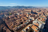 Bird eye view from Asinelli Tower on Bologna — Stock Photo