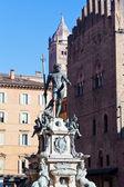 Fountain of Neptune in Bologna, Italy — Stock Photo