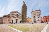 Panorama of Piazza del Duomo, Parma, Italy — Stock Photo