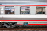 Fast speed train on railway — Stock Photo
