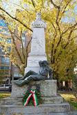 Guiseppe garibaldi estatua ferrara — Foto de Stock