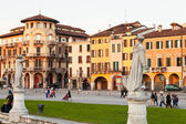 Houses on Prato della Valle in Padua, Italy — Stock Photo