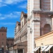 Panoramic view of Piazza Trento e Trieste, Town Hall and Cathedr — Stock Photo
