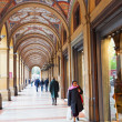 Stock Photo: Artistic portico on piazzCavour in Bologna, Italy