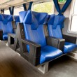 Stock Photo: Blue leather seats in train