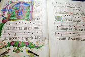 Medieval folio with choral note — Stock Photo