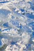 Blocks of ice in cold winter day — Stock Photo