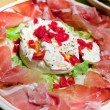 Stock Photo: Burrata with parma prosciutto crudo
