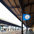 Royalty-Free Stock Photo: Outdoor clock on railway platform