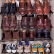Shoes shelf - Stok fotoğraf