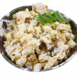 Russian stolichny salad — Stock Photo