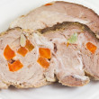 Sliced boiled pork - Foto Stock