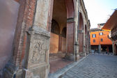 Medieval portico - arcade in Bologna — Stock Photo