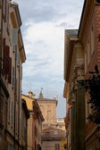 Medieval street in Modena — Stock Photo