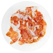 Sliced parma ham prosciutto crudo on plate — Stock Photo