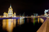 Krasnopresnenskaya embankment in Moscow — Stock Photo