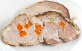 Sliced boiled pork — Stock Photo