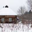 Snow covered wooden rustic house — Stock Photo #18651253