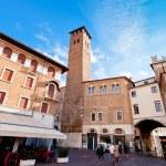 View of Piazza della Frutta in Padova, — Stock Photo