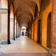 Portico and arcades in Bologna — Stock Photo