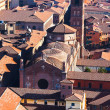 Above view of cathedral in Bologna — Stockfoto