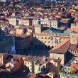 Royalty-Free Stock Photo: Aerial view on Piazza Maggiore from Asinelli tower in Bologna