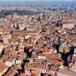 Aerial bird view from Asinelli Tower on Bologna — Stock Photo