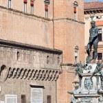 Fountain of Neptune on Piazza del Nettuno in Bologna — Stock Photo #18959359