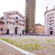 Panorama of Piazza del Duomo, Parma, Italy — Stock Photo #18959391