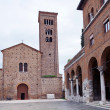 Front view of St.francis Basilica in Ravenna — Stock Photo