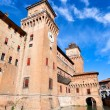 Stock Photo: Moat and Castle Estense in Ferrara