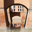 Stock Photo: Moat and bridges of Castle Estense in Ferrara
