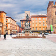 Fountain of Neptune on Piazza del Nettuno in Bologna — Stock Photo