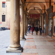 Portico on piazza Galvani in Bologna, Italy — Stock Photo #18959577