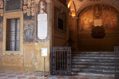 Niche of Archiginnasio palace, Bologna — Stock Photo