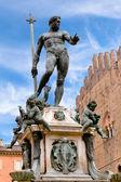 Fontanna neptuna w bolonii, włochy — Zdjęcie stockowe