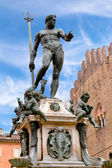 Fountain of Neptune in Bologna, Italy — Stok fotoğraf