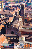 Above view of cathedral in Bologna — Stock Photo