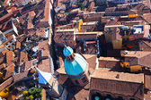 View from Asinelli Tower on via San Vitale in Bologna — Stock Photo