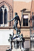 View on Fountain of Neptune in Bologna — Stock Photo