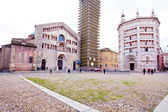 Panorama of Piazza del Duomo, Parma, Italy — Stock Photo