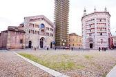 Panorama piazza del duomo, parma, i̇talya — Stok fotoğraf