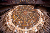 Painted ceiling and walls of The Baptistery of Parma — Stock Photo