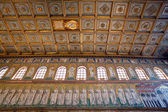 View of Mosaic on left wall in Sant Apollinare Nuovo, Ravenna — Stock Photo