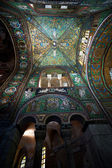 Green Ceiling Mosaic in Basilica San Vitale in Ravenna — Stock Photo