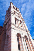 Tower of Ferrara Cathedral, Italy — Stock Photo
