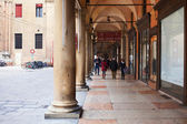 Portico on piazza Galvani in Bologna, Italy — Stock Photo