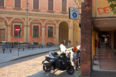 Square in Bologna at warm autumn afternoon — Stock Photo