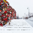 Love Tree on Luzhkov bridge in Moscow — Stock Photo