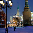 Stock Photo: Kremlin towers in winter snowing evening, Moscow